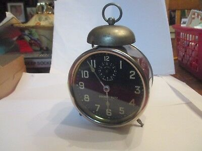 Ingraham Double Duty  Alarm Clock  Running           Antique /collectible