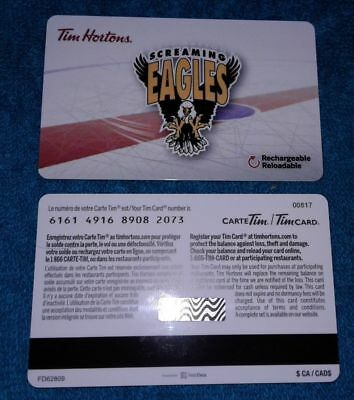 2018 New Tim Horton's Gift Card The Screaming Eagles No Balance QMJHL