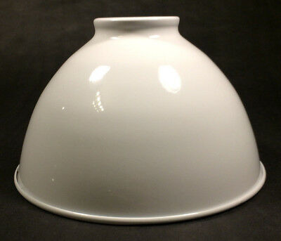 """NEW 7 1/16"""" Metal Dome Lamp Light Shade Pendant White Porcelain Industrial Style"""
