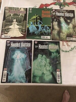 Disney Kingdom Haunted Mansion Comic Book Set Numbers 1 to 5 Produced by Marvel