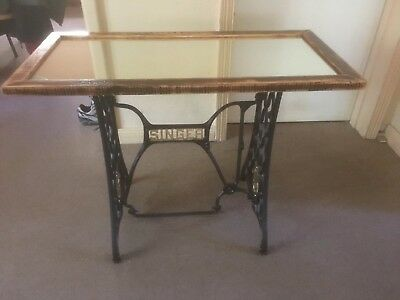 Old Singer sewing machine base table