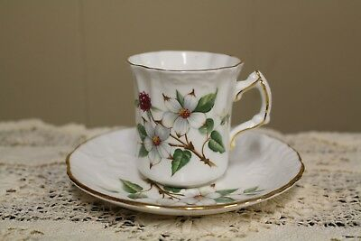 HAMMERSLEY BONE CHINA (Member of Spode Group) DOGWOOD BLOSSOM Demi Cup & Saucers