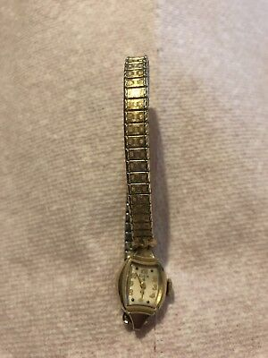 Vintage Elgin 10K Gold Filled  Watch  and. Spy Dell band