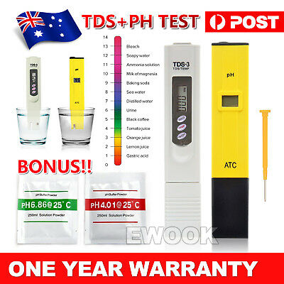 Premium Digital PH Meter / TDS Tester Aquarium Pool SPA Water Quality Monitor