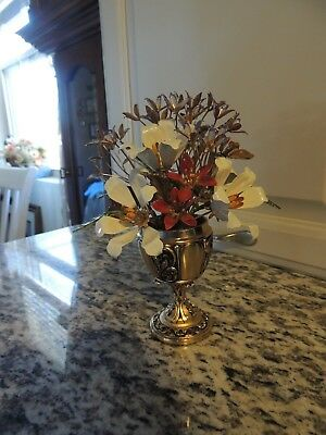 Carl Faberge Imperial Russian Bouquet Metal Enamel Flower Arrangement