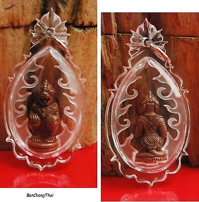 Hanuman (1st Version) SAT.5 & TUE.9,Thai Amulet, Rich & Luck, LP Keow or LP Kaew