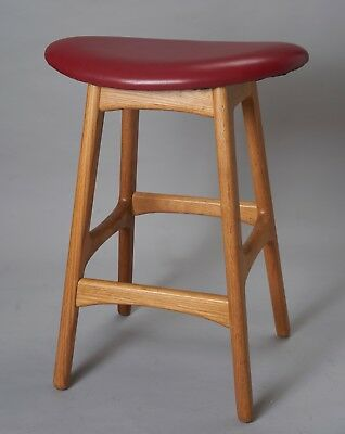 Mid Century Danish Modern Bar Stool oak wood