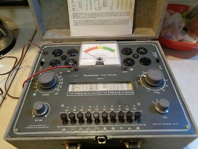 Vintage Heathkit Tc-2 Tube Tester Working Condition
