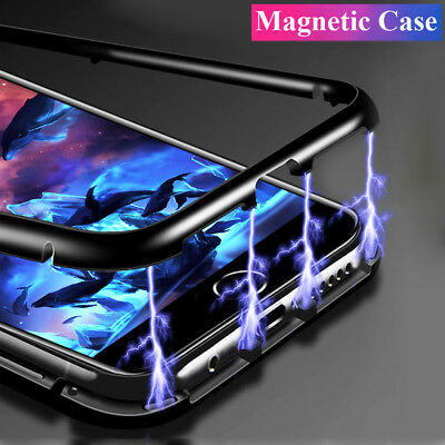 360 Metal Magnetic Adsorption Case for iPhone SE/5 5s Tempered Glass Armor Cover