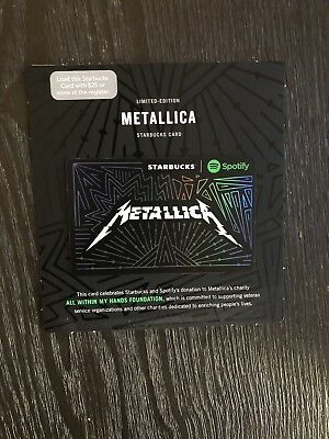Metallica Spotify Starbucks Gift Card 2017 Limited Edition