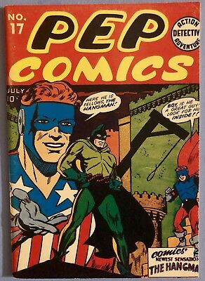 PEP COMICS NO. 17-  1st HANGMAN FLASHBACK