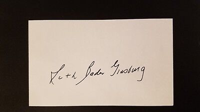 Signed Ruth Bader Ginsburg RBG Index Card: Autograph Supreme Court Signature
