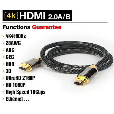 HDMI Premium Cable V2.0 Gold Plated High Speed Audio 3D 4K Ultra HD 1 ~15 M lot