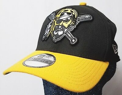 timeless design 36308 5d59e NEW Pittsburgh Pirates Black   Gold Cap 39Thirty Child-Youth Stretch Fit  New Era
