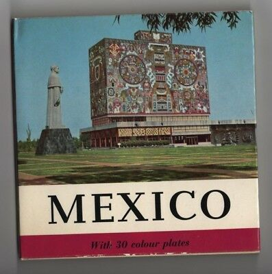 1961 Mexico book with 30 color plates photos 62 pages pristine jacket and cover