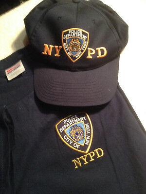 NYPD Police Department of New York Cap & XXL T-Shirt Navy