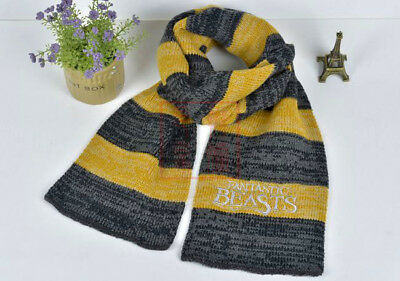 Fantastic Beasts and Where to Find Them Scarf Cosplay Newt Scamander Knitted