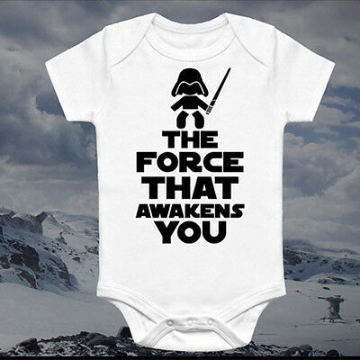 Unisex Baby Boy Girl Star Wars Print Romper Bodysuit Jumpsuit Cotton Clothes New