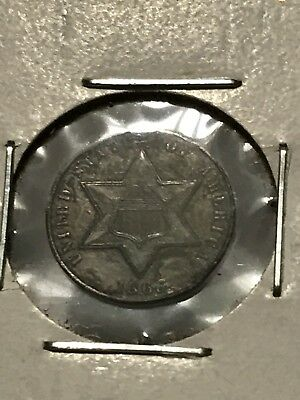 1865 3 cent silver