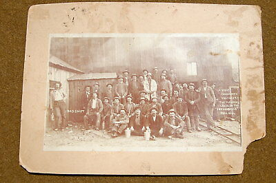 1897 Cripple Creek Colorado Cabinet Card Mining Lease Photo MINERS CANDLESTICK!!