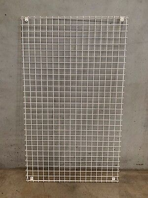 Grid Mesh Panel, white, wall mount display rack