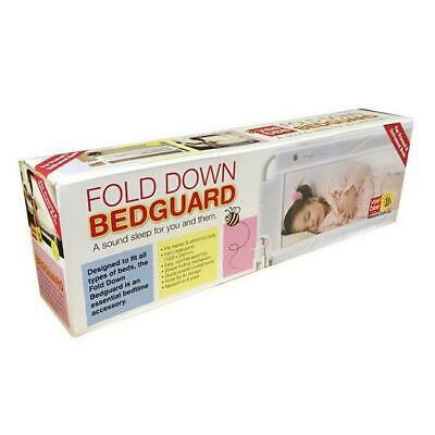 NEW Vee Bee Child Safety Fold Down Bed Rail Bedguard - White