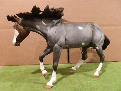 custom Breyer bay roan pinto Quarterhorse mare cutting horse Bobby Jo mold