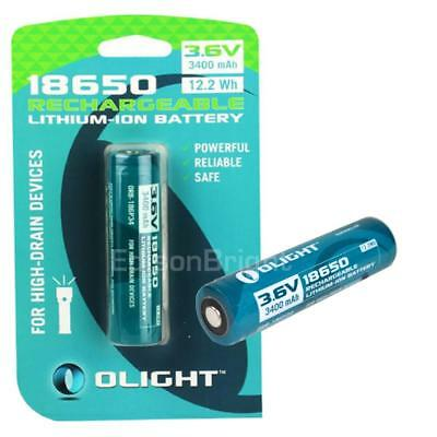 2 pack Olight 3400mAh 18650 Protected Rechargeable Battery for M23 M18 M2T S2