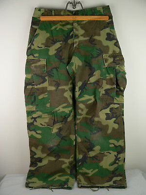 Original Vietnam War US Army ERDL Camouflage Tropical Trousers 1970 Small Short