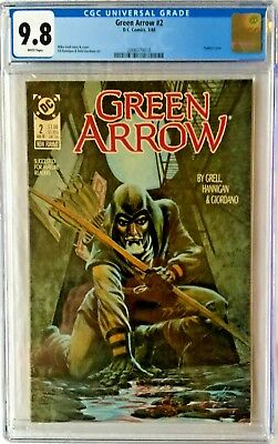 Cgc 9.8 Green Arrow #2 .. Painted Cover .. Mike Grell Story & Cover .. 1988 ..