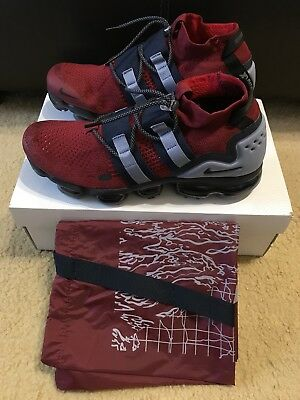 Nike Air VaporMax FK Utility Men's sz 11.5 TEAM RED BLACK OBSIDIAN AH6834-600