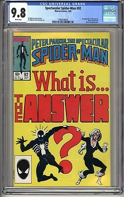 Spectacular Spider-Man #92  CGC 9.8 WP  7/84 Black Cat  1st app of the Answer