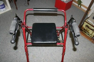 Red mobility foldable walker, great condition