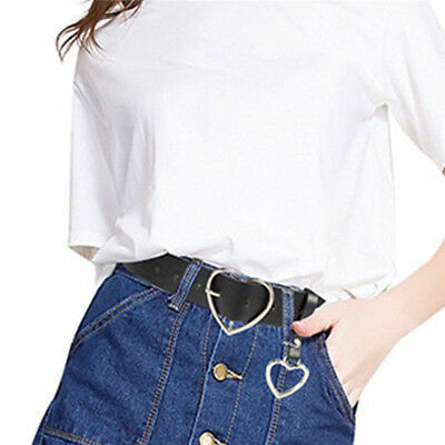 Vintage Metal Buckle Belt Waistband Fashion Women Leather Gifts Accessory Heart