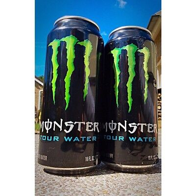 Monster Energy Tour Water Promo Can Purified H2O RARE! Never Sold To Public!