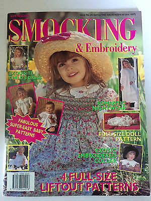 AUSTRALIAN SMOCKING & EMBROIDERY - Issue 26 - 1993 - PATTERNS