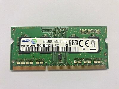 Samsung 4GB (1 x 4GB) SODIMM PC3L-12800S DDR3-1600 204 Pin Laptop Ram/Memory