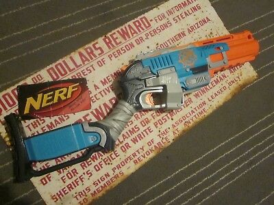 Last One * Tested * Nerf Gun Zombie Strike SledgeFire N Strike Elite Blue Orange