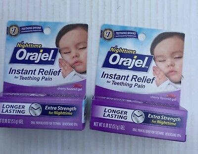 Nighttime Orajel Instant Relief For Teeting Pain -2 Boxes