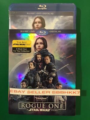 Rogue One: A Star Wars Story Blu Ray + DVD + Digital HD 3 DISCS & Slipcover New!