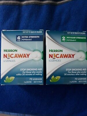 1 x 72 pack herron nicaway 4mg lozenges,extra strength peppermint.1 x72mg 2mg n