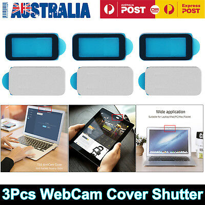 3Pcs WebCam Cover Shutter Privacy Slider Phone Camera Sticker Laptop Protector