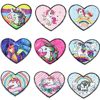 Unicorn Horse Rainbow Embroidery Sew Iron On Patch Badge Bag Jeans Applique