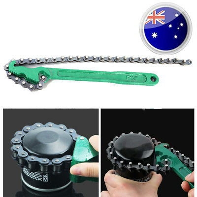 New Adjustable Oil Filter Wrench Universal Chain Style Remover Tool Non-slip AU
