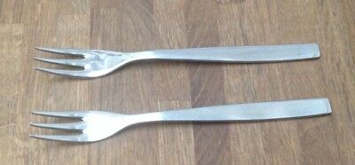 Vintage ~ Cutlery ~ Set Of 2 Forks ~ Viners Of Sheffield ~ Stainless ~ Size 7.3""
