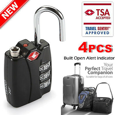 4 x Travel Buddy TSA Security Padlock for Travel Suitcases Luggage Case Bag Code