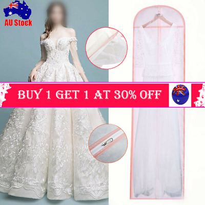 Extra Large Wedding Dress Bridal Gown Garment Breathable Cover Storage Bag 2