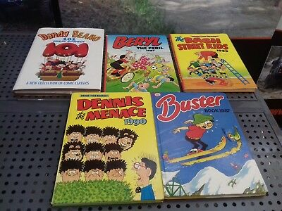 Dandy / Beano / Beezer Annuals Comic Vintage Collectables x5