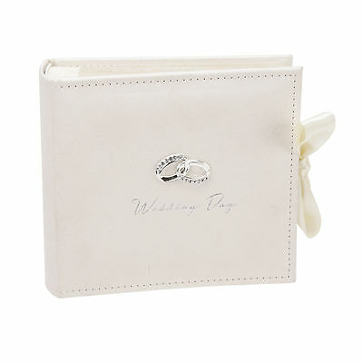 """Photo Album Wedding Day Amore Holds 100 x 4""""x6"""" Photos Space for Text-Engraved"""