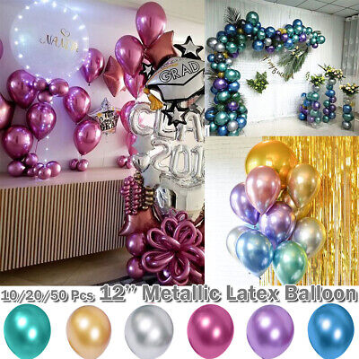 100pcs 12 inch Balloon Colorful Pearl Latex Celebration Birthday Party Wedding